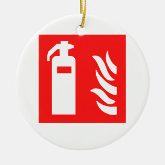 Fire Extinguisher Symbol Christmas Ornament