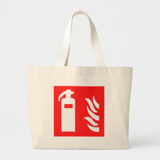 Fire Extinguisher Symbol Large Tote Bag