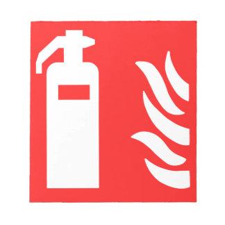 Fire Extinguisher Symbol Notepad