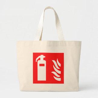 Fire Extinguisher Symbol Jumbo Tote Bag