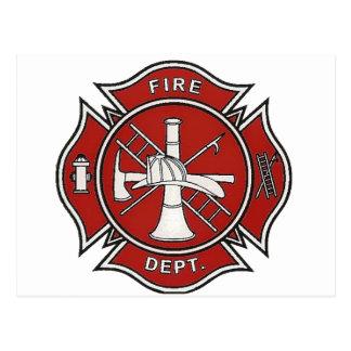 Fire Fighter Badge Postcard