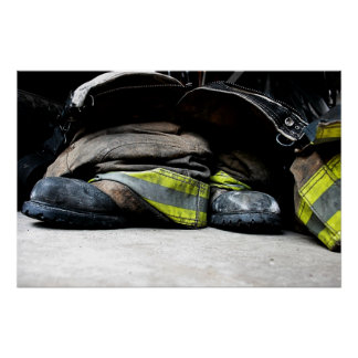Fire Fighter Boots Poster