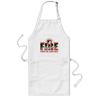 Fire Fighter First In, Last Out Long Apron