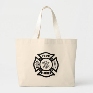 Fire Fighter Maltese Tote Bags