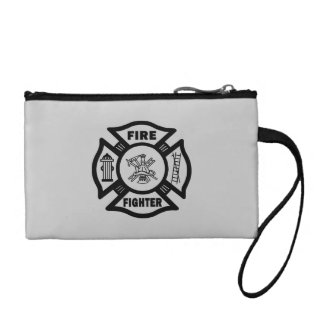 Fire Fighter Maltese Change Purses