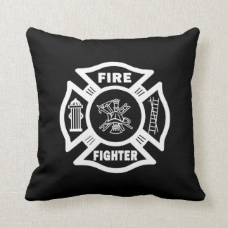 Fire Fighter Maltese Cushion