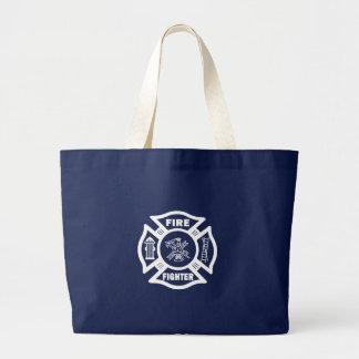 Fire Fighter Maltese Jumbo Tote Bag