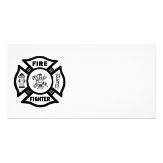 Fire Fighter Maltese Customized Photo Card