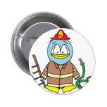 Fire Fighter Penguin Pinback Buttons