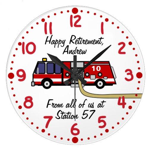Fire Fighter Retirement Gift Custom Name Clock
