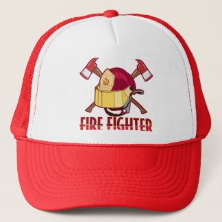 Fire Fighter Tribute Trucker Hat