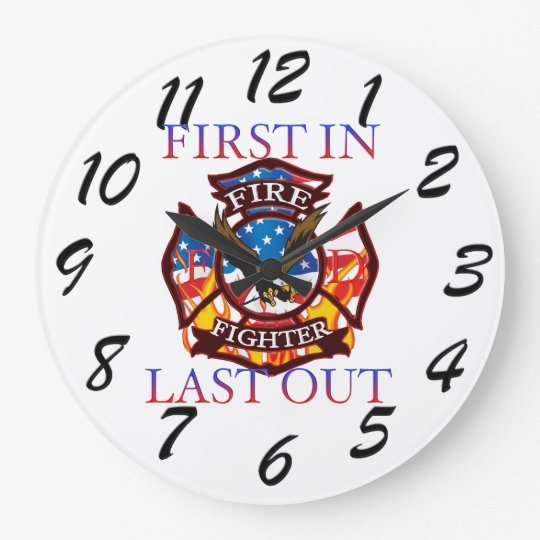 Fire Fighter Wall Clocks