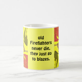 fire fighters blaze basic white mug