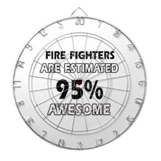 fire fighters designs dartboard with darts