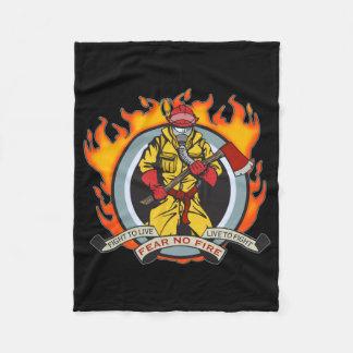 Fire Fighters Fear No Fire Fleece Blanket
