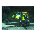 "Fire Fighter's Helmet 5"" X 7"" Invitation Card"