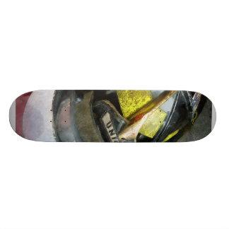 Fire Fighter's Helmet Closeup 18.1 Cm Old School Skateboard Deck