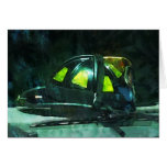 Fire Fighter's Helmet Greeting Card