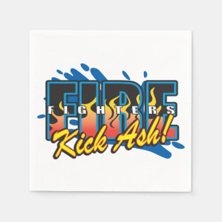Fire Fighters Kick Ash! Disposable Napkin