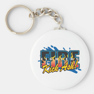 Fire Fighters Kick Ash! Key Chains