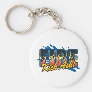 Fire Fighters Kick Ash! Key Ring