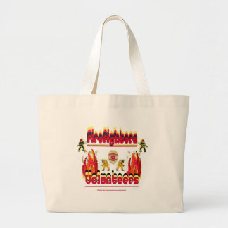 Fire Firefighter Volunteer Jumbo Tote Bag