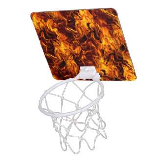 Fire / Flame Pattern Background Mini Basketball Hoop