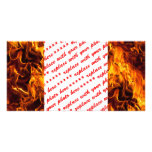 Fire / Flame Pattern Background Photo Card