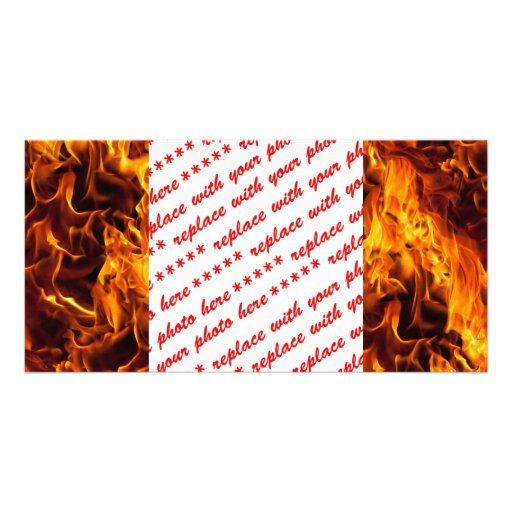 Fire / Flame Pattern Background Photo Cards