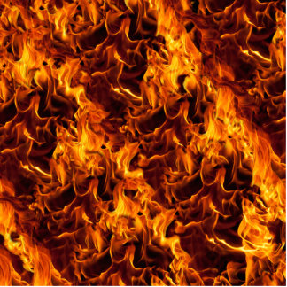 Fire / Flame Pattern Background Standing Photo Sculpture