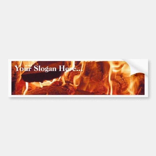 Fire Flames Bumper Sticker