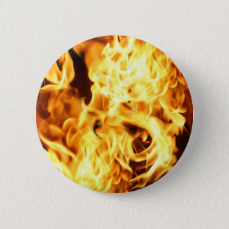Fire & Flames Burning Fiery Gift Design 6 Cm Round Badge