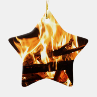Fire & Flames Ceramic Star Decoration