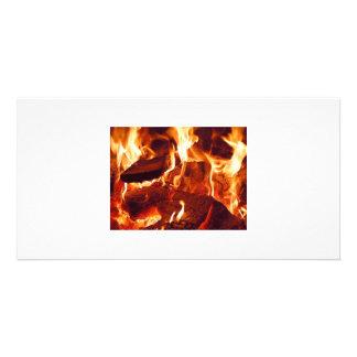 Fire-flames Photo Card