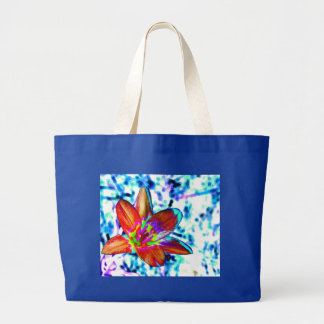 Fire flower tote bags