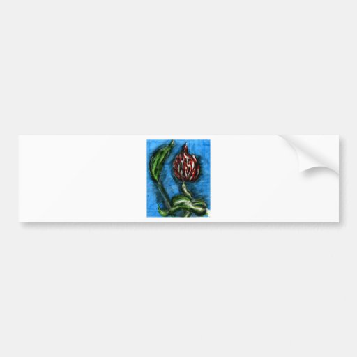 Fire Flower Black Bottom Mambo In The Style Of Bon Bumper Stickers