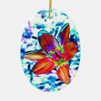 Fire flower christmas tree ornaments