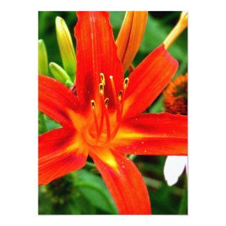 Fire Flower Personalized Invite