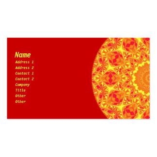 Fire Flower Kaleidoscope Business Card Template
