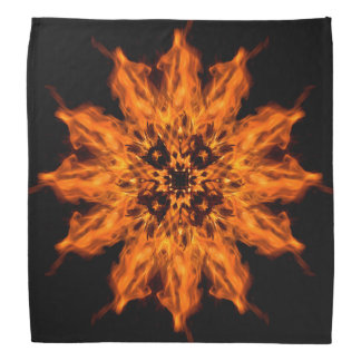 Fire Flower Mandala Fire Art Bandana