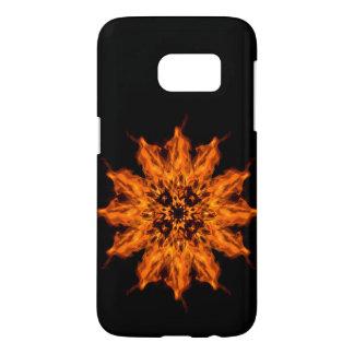 Fire Flower Mandala Fire Art Samsung Galaxy S7