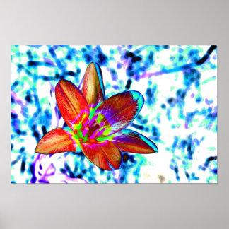 Fire flower print
