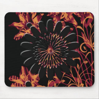 Fire Flowers device skins cases Mousepad