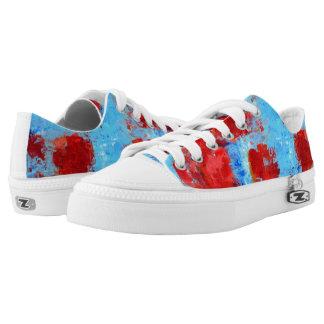 Fire Flowers Summer Sneakers
