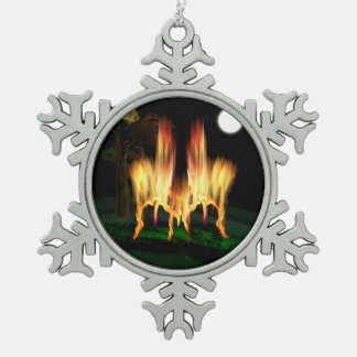 Fire Fly Pewter Snowflake Decoration