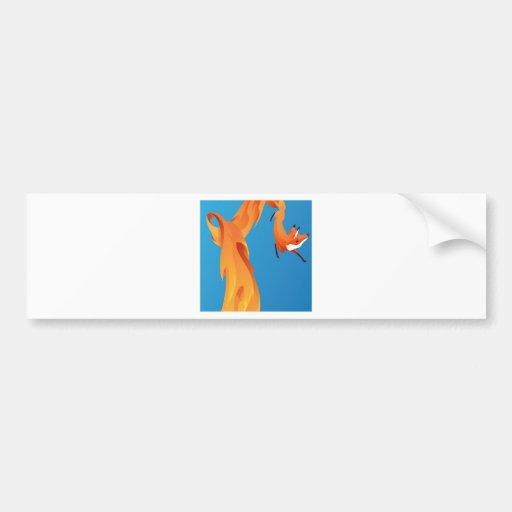 Fire Fox Digital Graphic Design Bumper Stickers