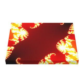 Fire fractal canvas print