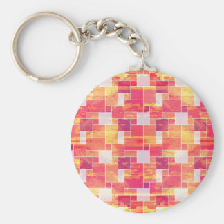Fire French Tile Basic Round Button Key Ring