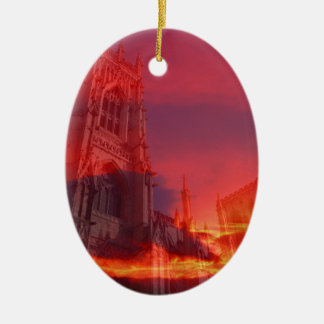 Fire from the Pulpit. Ceramic Oval Decoration