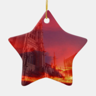Fire from the Pulpit. Christmas Ornament